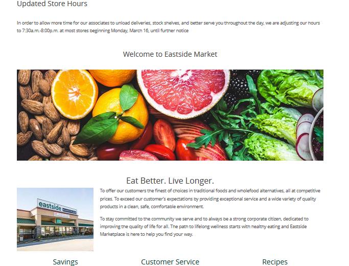 East Side Market Website