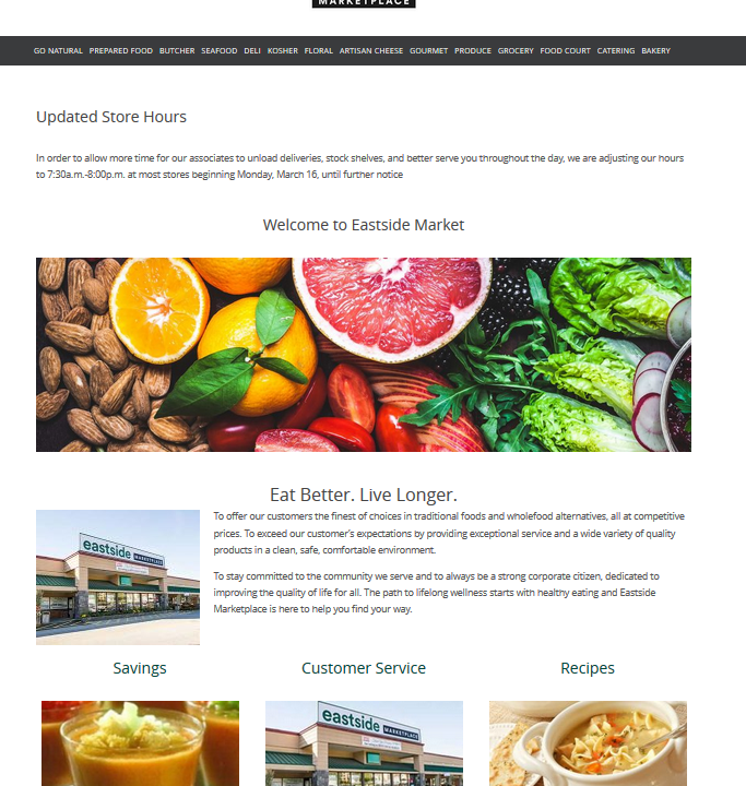East Side Market Website