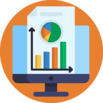 web and seo analytics reporting icon