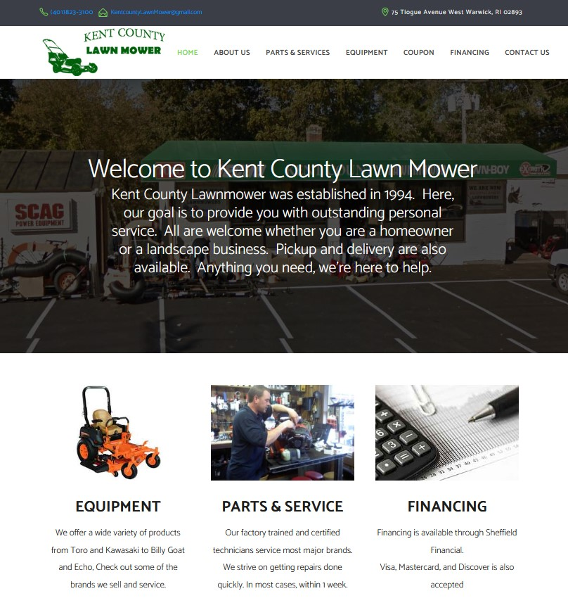 kent couty lawn care website